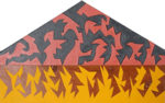 彦坂尚嘉「想像界と現実界の同時ハウス」木・アクリル29.3×47cm