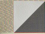 松本旻「配色(ゲーム的要素)1」版画44×60.5cm