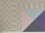 松本旻「配色(ゲーム的要素)2」版画44×60.5cm