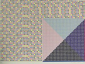 松本旻「配色(ゲーム的要素)2」版画