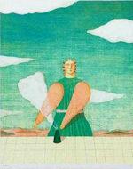 有元利夫「雲の部屋」版画リトグラフ38×31cm