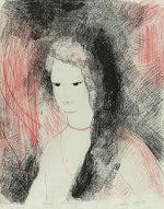 マリー・ローランサン「リンダ」版画38×32cm