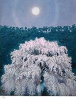 東山魁夷「花明り(新復刻画)」リトグラフ49.5×40cm