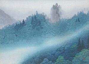 東山魁夷「山雲去来」木版画