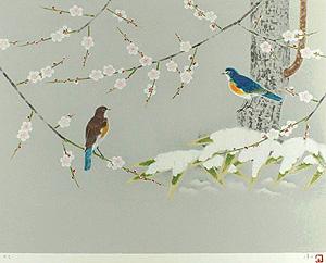 上村淳之「待春」版画