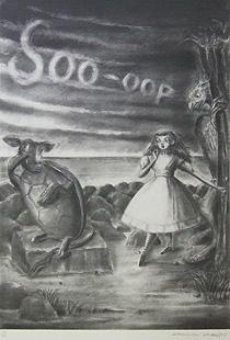 金子國義「にせウミガメのお話」版画
