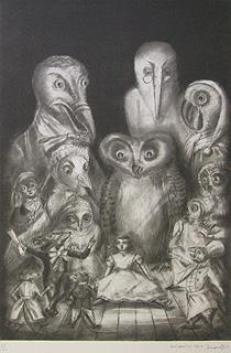 金子國義「ネズミのながいお話」版画