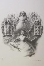 金子國義「ハートの女王」版画リトグラフ55×39cm