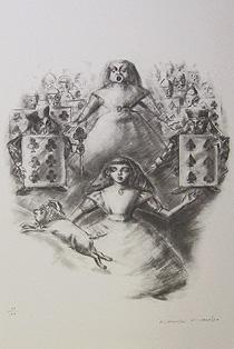 金子國義「ハートの女王」版画