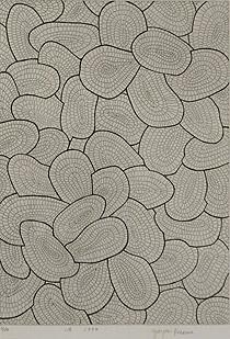 草間彌生「波」銅版画