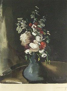 モーリス・ド・ヴラマンク「花瓶の花束」銅版画