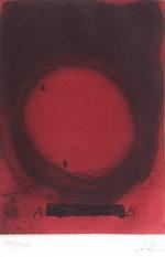 アントニ・タピエス「Circle」版画39.4×27.9cm
