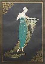 エルテ「エメラルドナイト」版画93×65cm