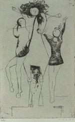 マリノ・マリーニ「軽業師たち」銅版画39.5×24.6cm