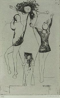 マリノ・マリーニ「軽業師たち」銅版画