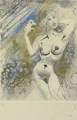 サルバドール・ダリ「Marilyn」銅版画37×28.2cm