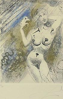 サルバドール・ダリ「Marilyn」銅版画