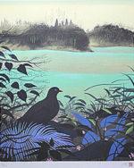 千住博「森の啓示」版画シルクスクリーン45.5×38cm