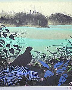 千住博「森の啓示」版画