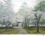 酒井英利「薫風・南禅寺」版画45.4×60.4