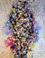 村上隆「赤、黄色、青、死、なんて怖くない」版画77×60cm