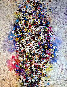 村上隆「赤、黄色、青、死、なんて怖くない」版画