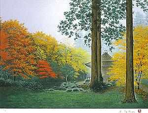酒井英利「秋彩・三千院」版画