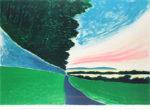 アンドレ・ブラジリエ「夏の夕暮れ」版画64×91cm