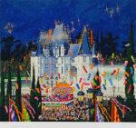 ヒロ・ヤマガタ「スターライトコンサート」版画57×63.2cm