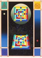 前田常作「空想マンダラ・照空」版画56.5×43cm