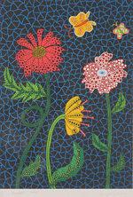 草間彌生「Flowers」版画リトグラフ51.6×36.2cm