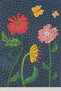 草間彌生「Flowers」版画