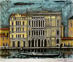 ベルナール・ビュッフェ「ベニス・ガドーロ」版画50×65.5cm