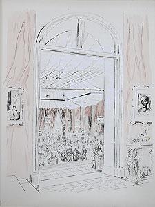 藤田嗣治「シャルパンティエのオークション」銅版画