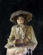 山下徹「フランス人形」油彩10号