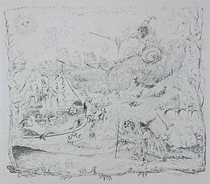 藤田嗣治「フジタの見た夢」銅版画