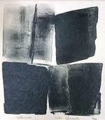 篠田桃紅「Interval」版画リトグラフ30×23cm