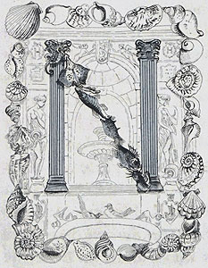 藤田嗣治「飾り文字:貝殻」銅版画