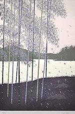 千住博「水の惑星#9 季の終わり」版画72.7×50cm
