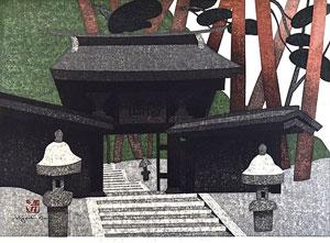 斎藤清「虚空蔵尊 会津」木版画