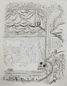 藤田嗣治「マリニー座:魅せられし河」銅版画
