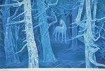 東山魁夷「白馬の森(新復刻画)」版画36.2×53cm