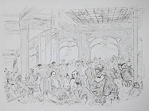 藤田嗣治「レストランマキシム」銅版画