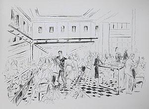 藤田嗣治「美容室:魅せられし河」銅版画