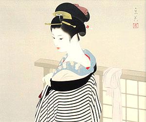 志村立美「支度」木版画
