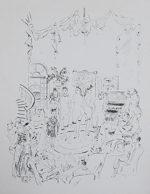 藤田嗣治「娼婦の館:魅せられし河」銅版画27×20cm