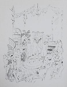 藤田嗣治「娼婦の館:魅せられし河」銅版画