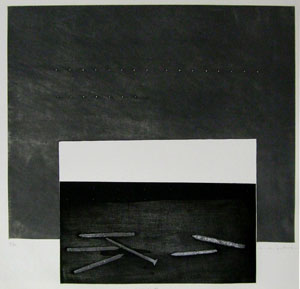 清塚紀子「突然の訪問」銅版画・鉛箔