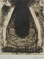 山口啓介「化石の丘」銅版画24.8×19.8cm