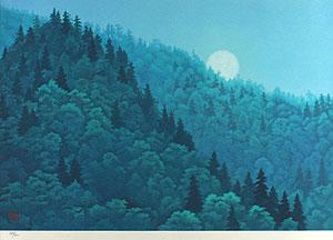 東山魁夷「明宵(新復刻画)」版画